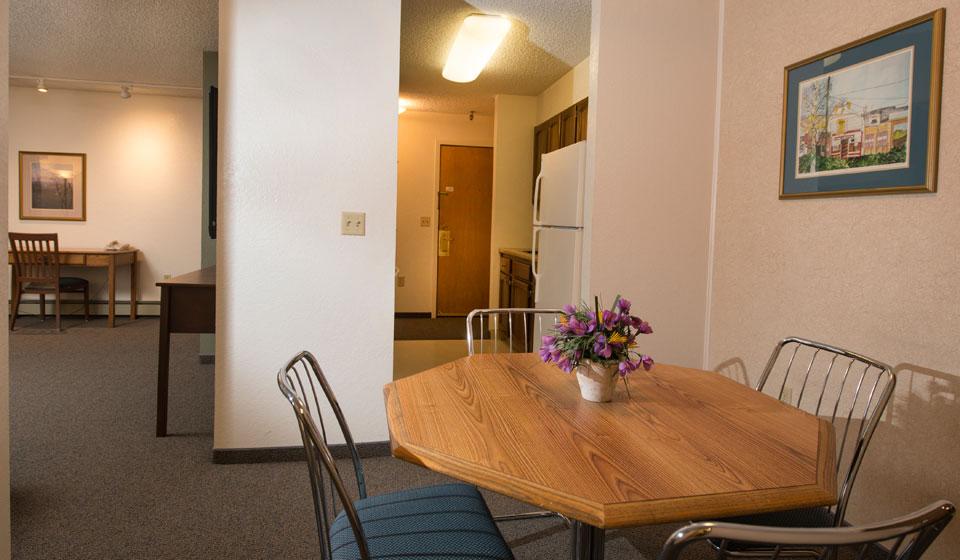 1 Bedroom Dining-Living Room-Kitchen-Entrance